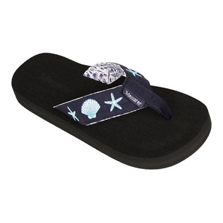 Womens Tidewater Sandals Blue Shells