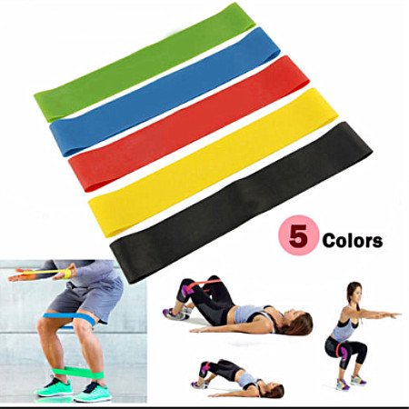 Torrent Resistance Bands Exercise Loop Mini Bands Set of 5 Fitness Crossfit Band for Workout Physical Therapy Home Stretching Yoga Pilate