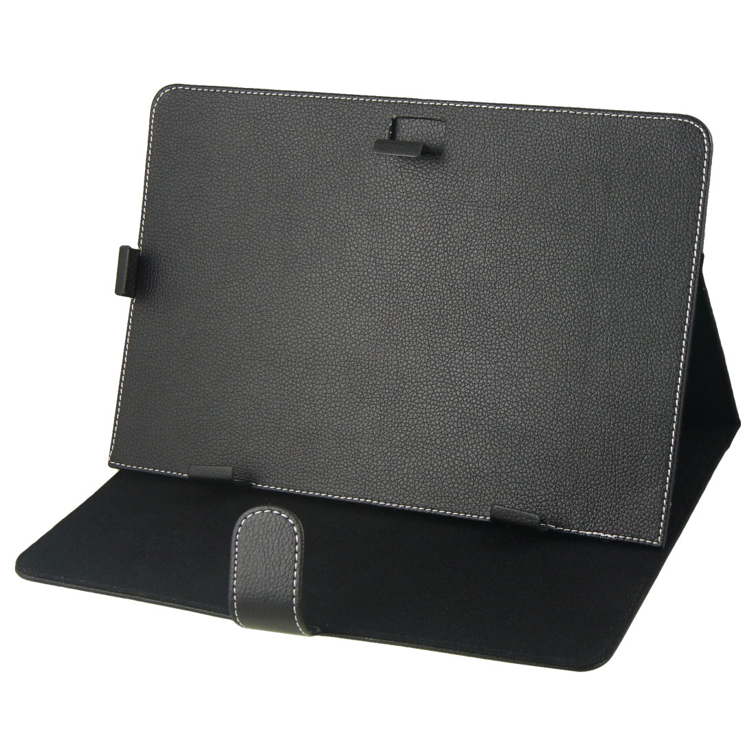"Faux Leather Stand Computer Case Flip Cover Black for 10"" 10.1"" Android Tablet"