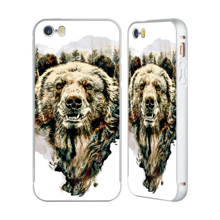 OFFICIAL RIZA PEKER ANIMALS SILVER ALUMINIUM BUMPER SLIDER CASE FOR IPHONE PHONES