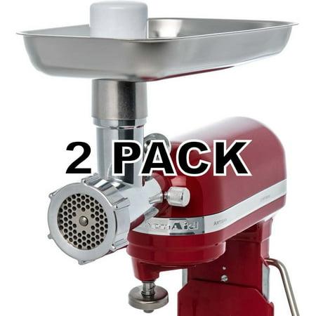 2 Pk, Jupiter Metal Food Grinder Attachment for KitchenAid Stand Mixers, 478100 Kitchenaid Mixer Grinder Attachment