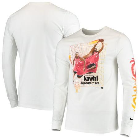 brand new 69c04 400dc Kawhi Leonard Toronto Raptors Nike Time Warp Long Sleeve T-Shirt - White