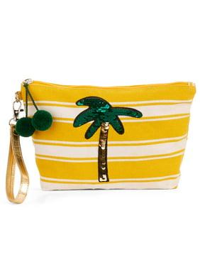 Product Image No Boundaries Palm Tree Flip Sequin Wristlet Pouch d567cea8f318