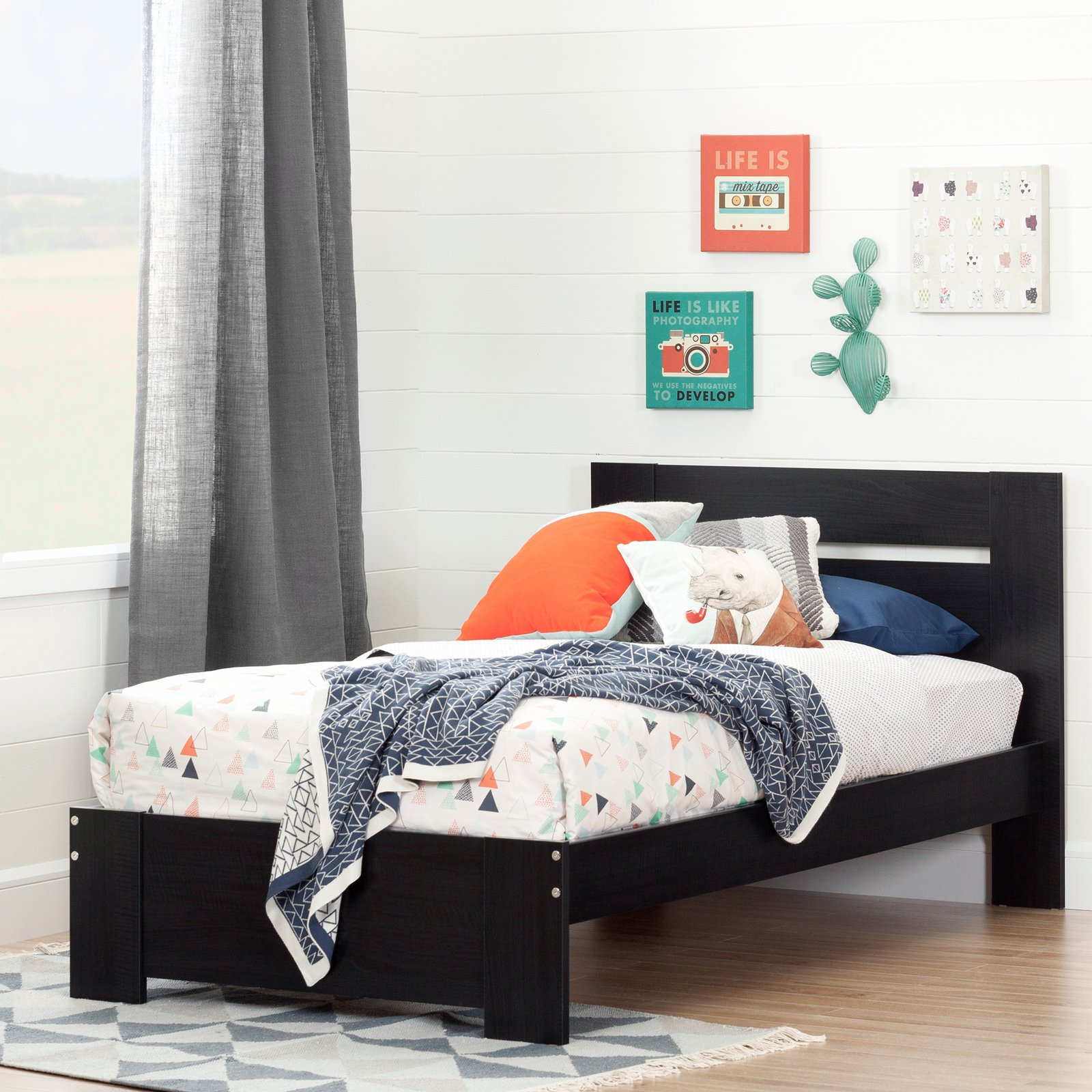 South Shore Reevo Twin Bed Set, Multiple Finishes