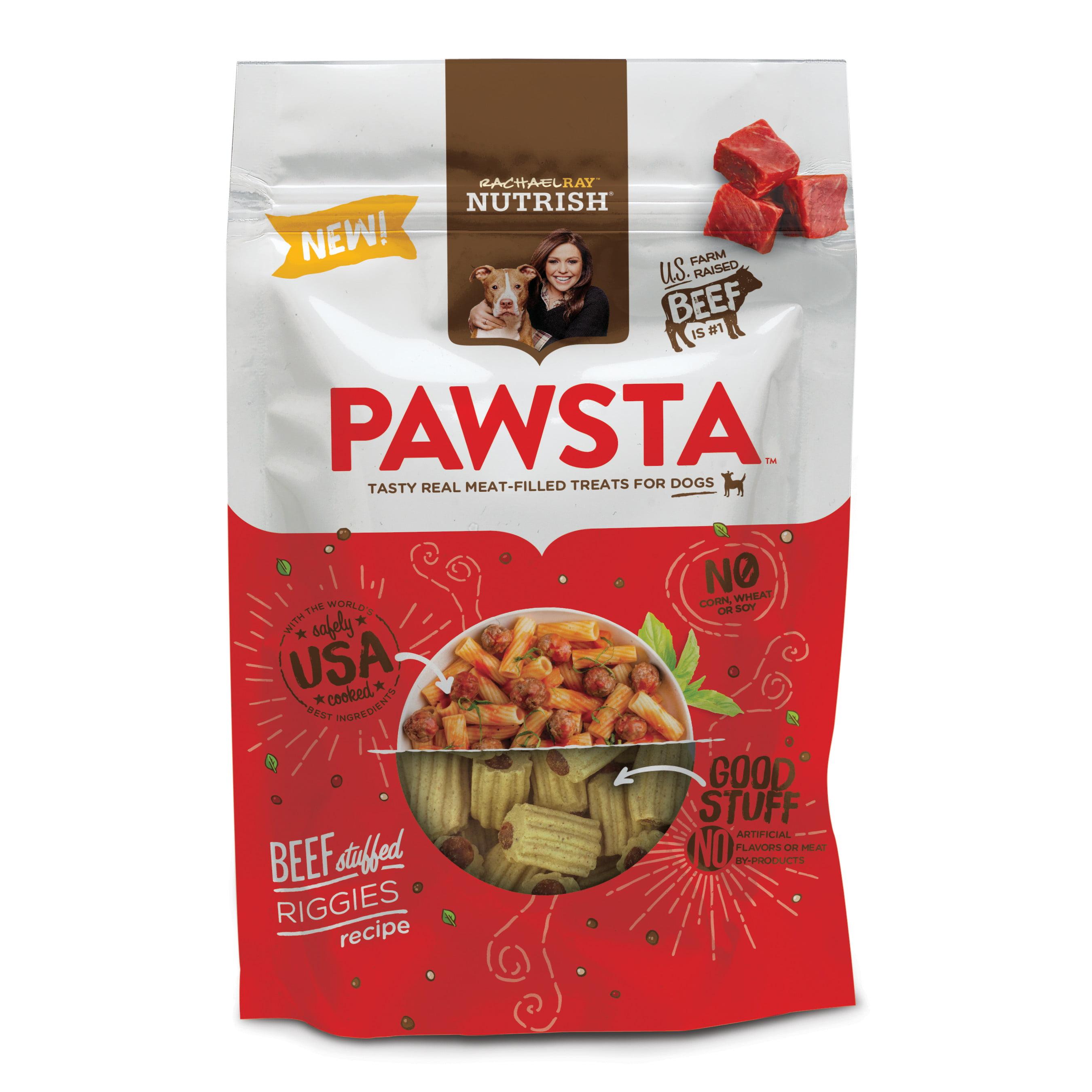 Rachael Ray Nutrish Pawsta Dog Treats, Riggies Stuffed with Beef Recipe, 4.5 oz by AINSWORTH PET NUTRITION