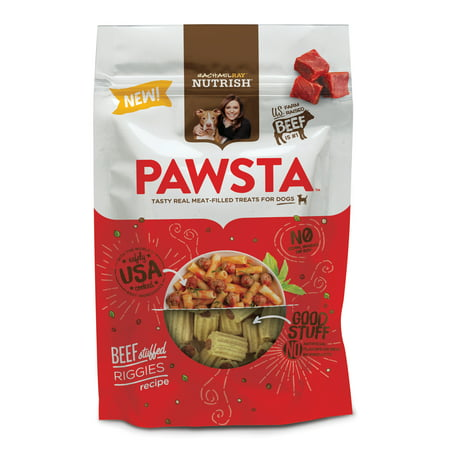 (Rachael Ray Nutrish Pawsta Dog Treats, Riggies Stuffed with Beef Recipe, 4.5 oz)