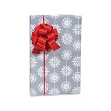 White and Silver Snowflakes Holiday /Christmas Gift Wrapping Paper 16ft](Snowflake Paper)