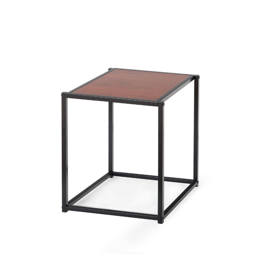 Modern End Table Coffee Table,Square Side Table Display Stand or Lamp Table Collection Night Stand with Sturdy Steel Leg... by