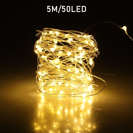 LED String Lights, TSV Fairy Lights USB Operated Lights Remote & Timer, 8 Modes Indoor Decorative Copper Wire Lights Bedroom Party Halloween Xmas (16.5ft/5M, 50 LEDs) - Halloween Bedroom Decorating Ideas