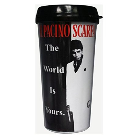 Universal Studios Scarface Movie Theme The World Is Yours 16 Ounce Travel Mug - Universal Studios Shop