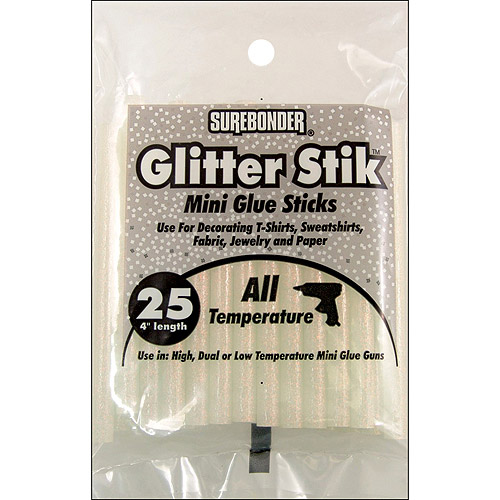 "Mini Glue Sticks 4"" 25/Pkg-Opal/Glitter"
