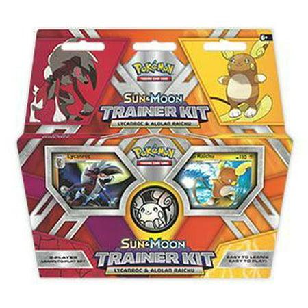 Sun & Moon Trainer Kit: Lycanroc & Alolan Raichu 2-Player Starter Set (Pokemon) (Pokemon Kit)