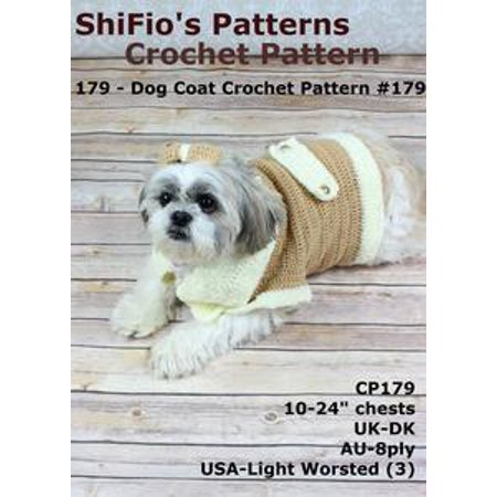 179 Dog Coat Crochet Pattern Usa 179 Ebook Walmart