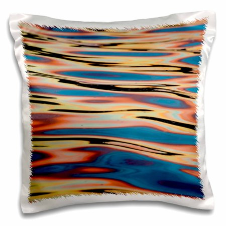 3dRose US, WA. Brilliant sunset reflected in Puget Sound - Pillow Case, 16 by 16-inch