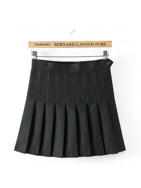 Diconna Women Tennis Pleated Mini Skirt Polyester Black S