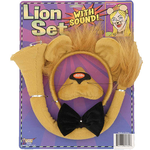 Lion Set with Sound Child Halloween Accessory