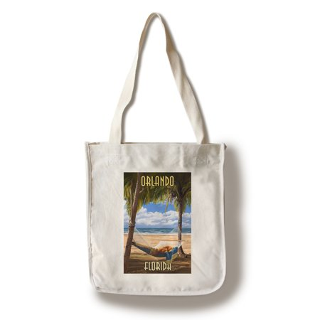 Orlando, Florida - Palms & Hammock - Lantern Press Poster (100% Cotton Tote Bag - (The Florida Mall Orlando Florida)