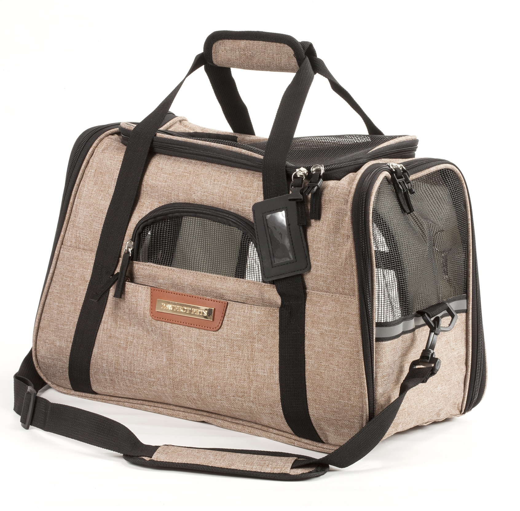 Premium Pet Travel Carrier for Small Dogs and Cats (Charcoal Grey)