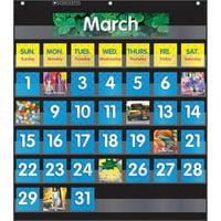 Scholastic Teaching Resources SC-583866 Pocket Chart Monthly Calendar, Black