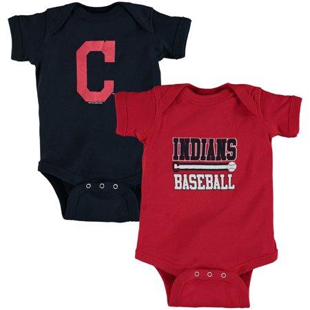 Cleveland Indians Soft as a Grape Newborn & Infant 2-Piece Bodysuit Set - Red/Navy 12 Piece Indian Bangle Set
