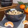 Better Homes & Gardens Burns Stoneware Black Speckled Bowl