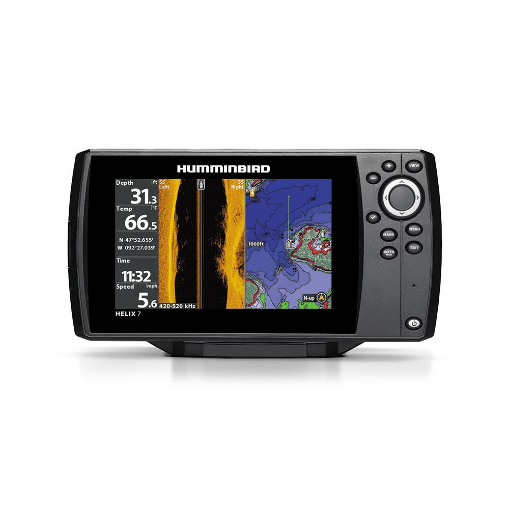 "Humminbird 410340-1 HELIX 7 CHIRP SI GPS G2N Sonar Fishfinder & Chartplotter with Down & Side Imaging & 7"" WVGA Display"