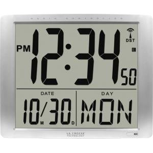 Atomic Digital Wall Clock With Jumbo Lcd Display