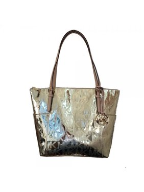 66542321c037 Product Image Michael Kors Jet Set East West Mirror Metallic Tote in Pale  Gold