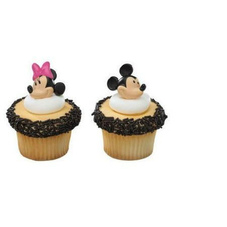 12 Mickey And Minnie Mouse Cupcake Cake Rings Birthday Party Favors Cake Toppers](Baby Minnie Mouse Birthday Party)