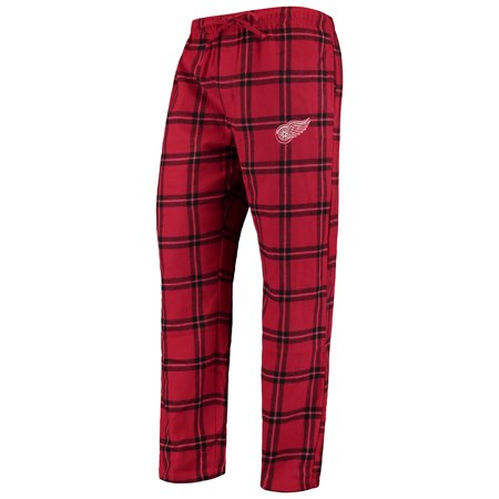 Tomas Holmstrom Detroit Red Wings - Detroit Red Wings Concepts Sport Homestretch Flannel Pants - Red/Black