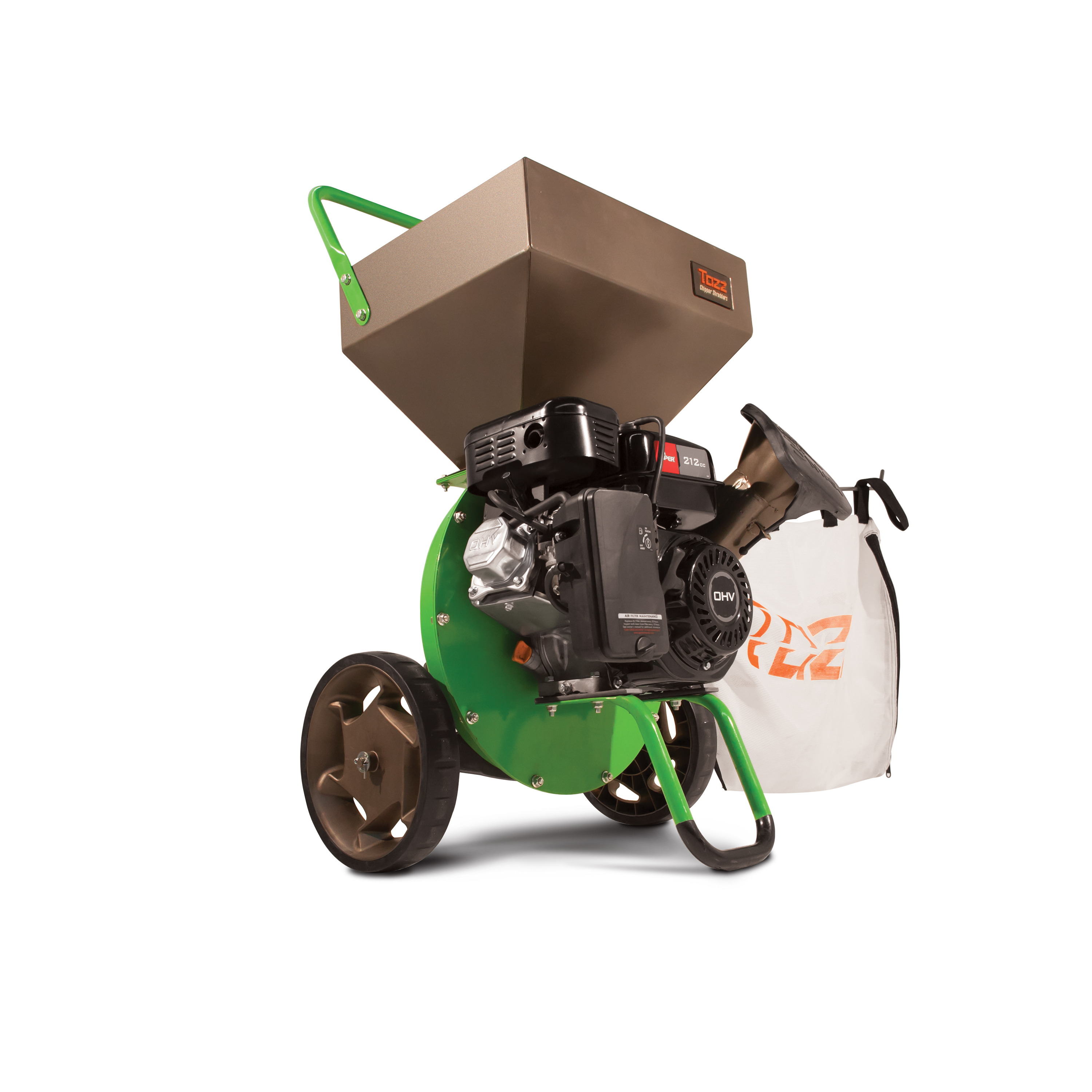 Tazz 30520 K32 Chipper Shredder - 212cc 4-Cycle Viper Engine, 5 Year Warranty