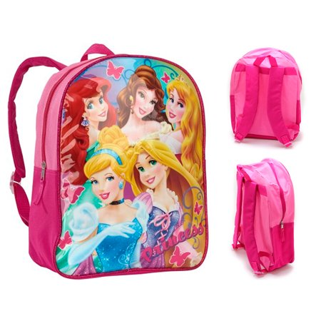 Disney Princess 15 Kids Backpack School Bag Toddler Lunch Tote Cinderella Belle