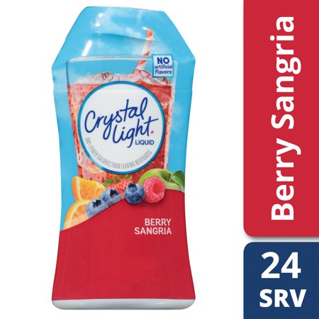 Crystal Light Sugar Free Berry Sangria Liquid Drink Mix, Caffeinated, 1.62 fl oz