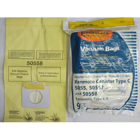 Kenmore Canister Type C Sears Vacuum Bags  Canister  Panasonic Vacuum Cleaners  Mc V150m 20 50558  Mc V9600 Thru V969