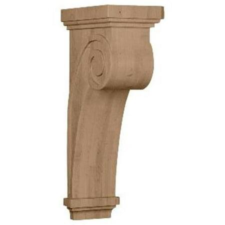 Ekena Millwork COR06X10X22SCMA 6.25 in. W x 10 in. D x 22 in. H Scroll Corbel, Maple, Architectural Accent - image 1 de 1