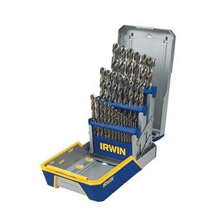 Irwin Metal (Irwin Hanson 3018002 29-Piece Cobalt M-35 Metal Index Drill Bit Set)