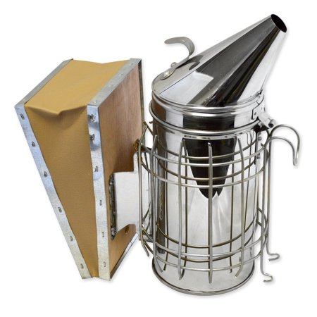 Bee hive Smoker (29X21.5cm) beekeeping equipment Stainless Steel with Heat Shield Protection