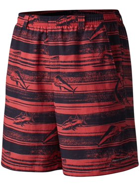 Columbia Men's Backcast II Printed Board Shorts (Collegiate Navy American Flag, L)