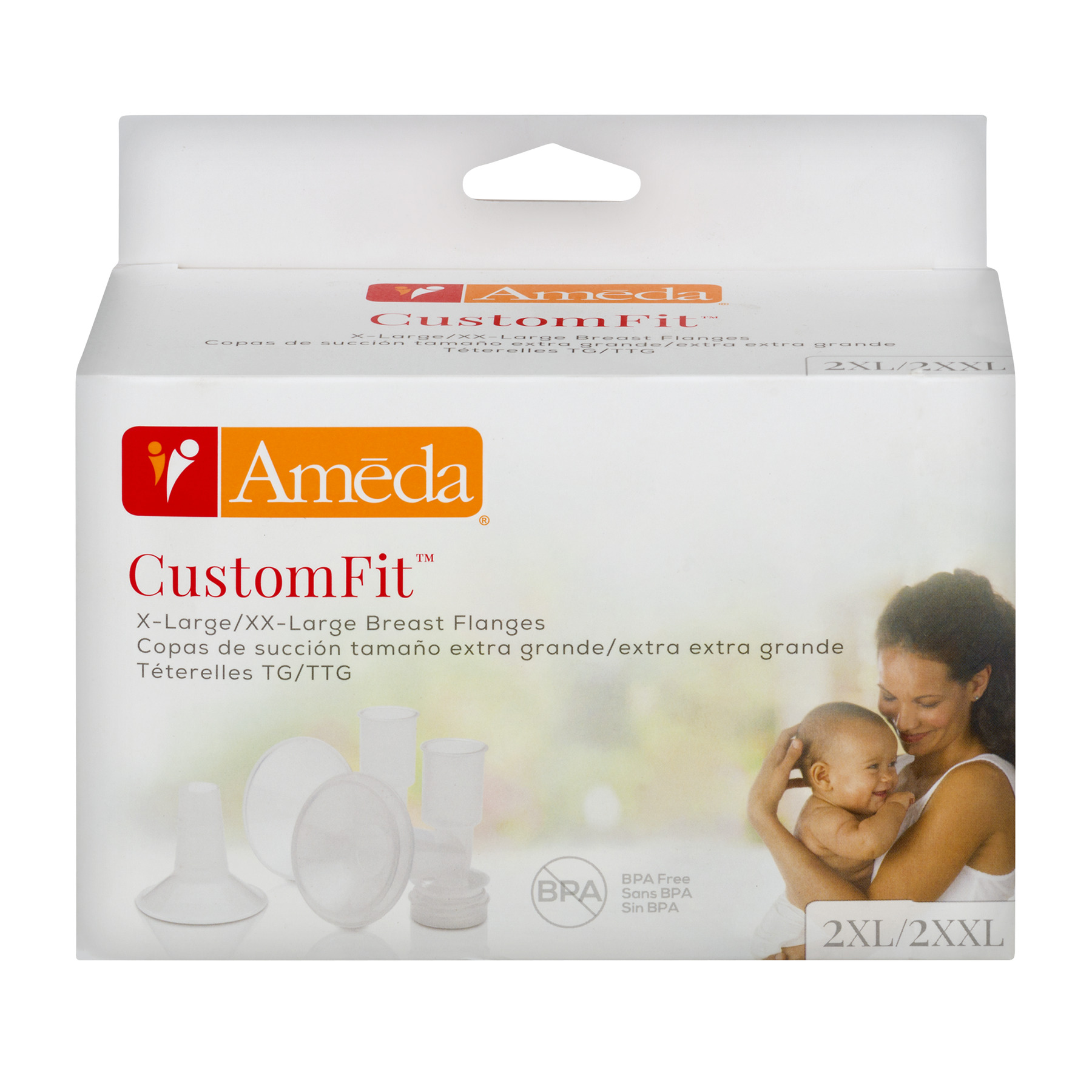 Ameda CustomFit Breast Flanges X-Large/XX-Large - 4 CT4.0 CT
