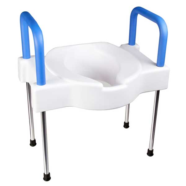 Maddak Tall-Ette Extra Wide Elevated Toilet Seat with Legs-Steel