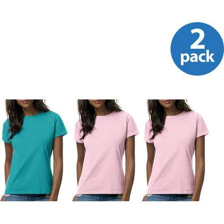 Hanes Womens Lightweight Short Sleeve T-shirt, 2 pack