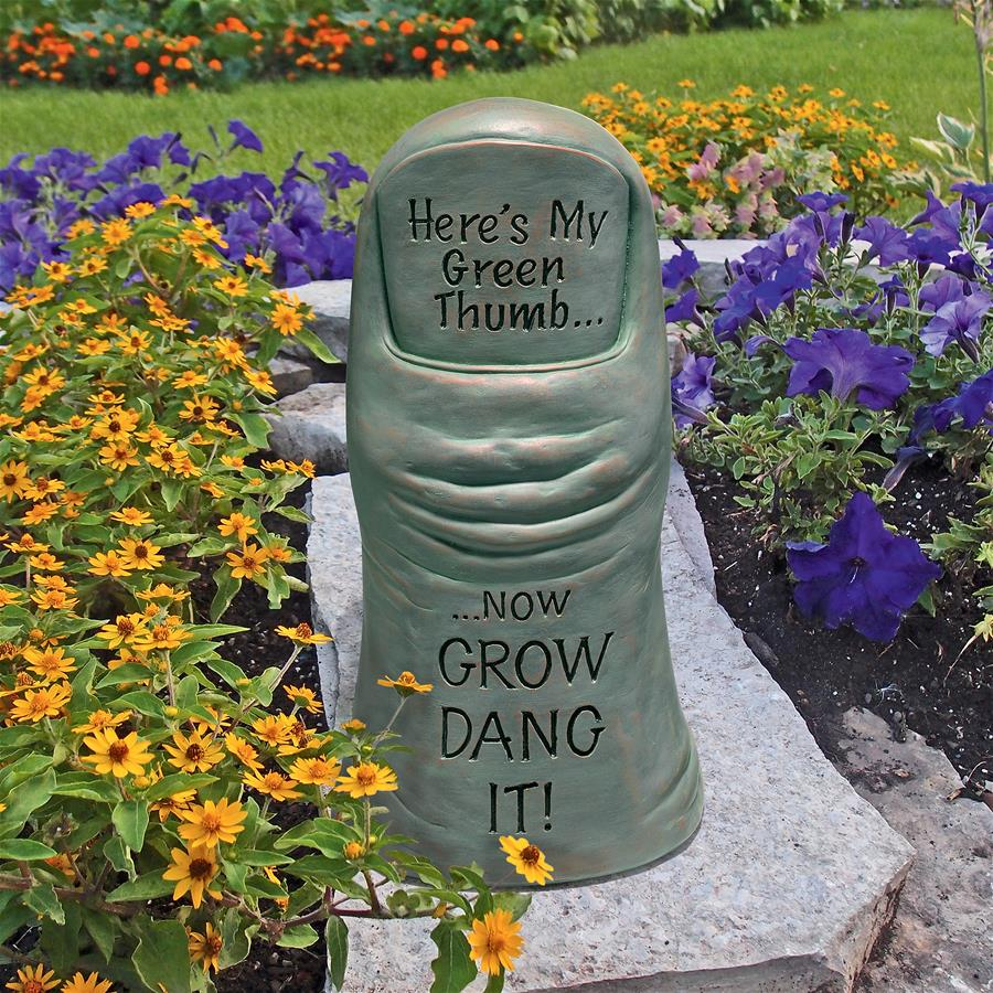 Horticulturist's Green Thumb Garden Statue by Design Toscano