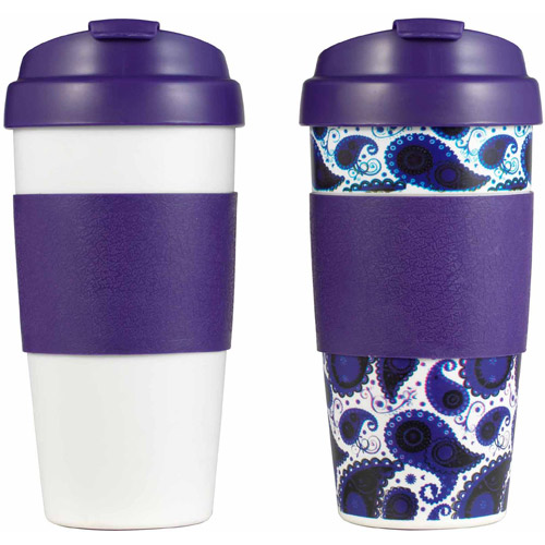 Lifetime Brands 5087463 Thermal Coffee Mug, Double-Wall Plastic, 16-oz., 2-Pk. - Quantity 1