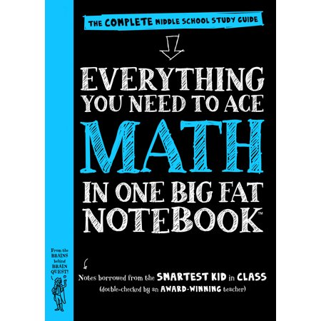 Everything You Need to Ace Math in One Big Fat Notebook - (Bass Fat)