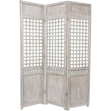 6' Tall Open Lattice Room Divider