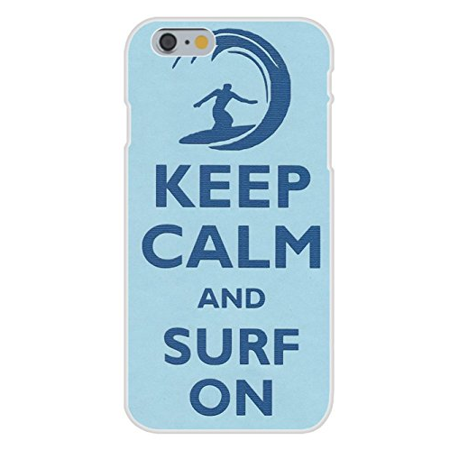 Apple iPhone 6+ (Plus) Custom Case White Plastic Snap On - Keep Calm and Surf On Wave