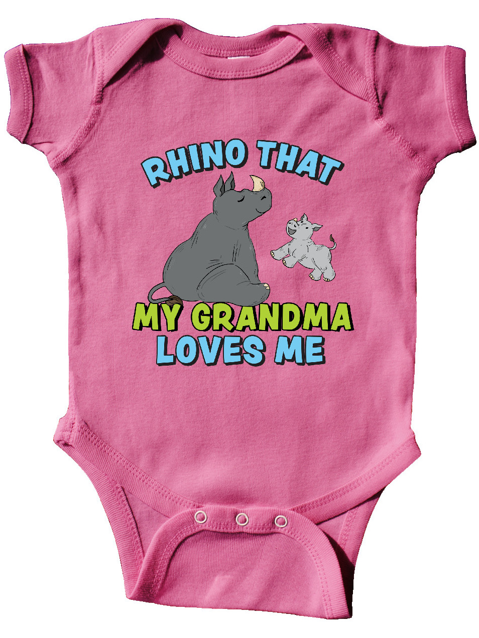 inktastic Rhino That My Great Grannie Loves Me with Cute Long Sleeve Creeper
