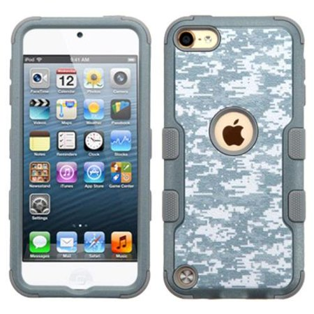 Insten Tuff Camouflage Hard Dual Layer Rubber Silicone Cover Case For Apple iPod Touch 5th Gen/6th Gen - (Camouflage Silicone Case)