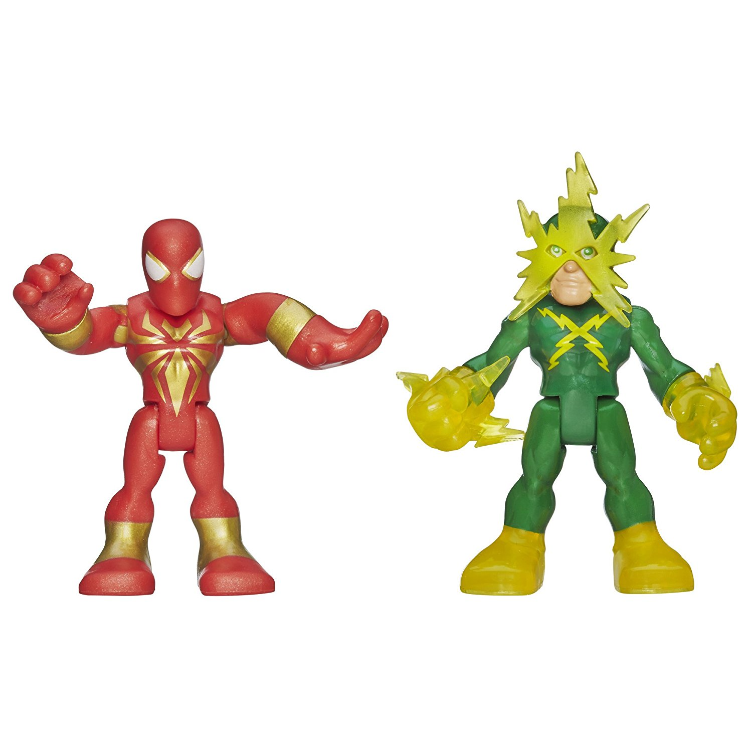 Heroes Marvel Super Hero Adventures Iron Spider-Man and Electro Figures, 2-pack includes 2 Marvel figures By... by