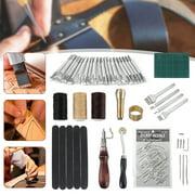 Handmade Sewing Kit, Leather Craft Tool, DIY For Hand Stamping Set Saddle Making Sewing Stitching